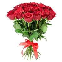 25 красных роз (40 см)