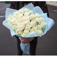 31 белая роза (50 см)