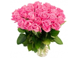 31 розовая роза (50 см)