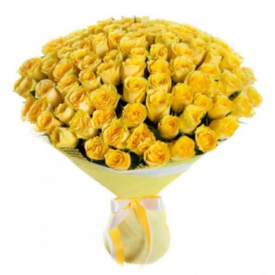 101 желтая роза (40 см)
