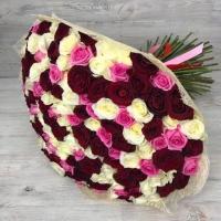Букет из 101 розы микс (60 см)