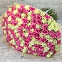 Букет из микс 151 розы (60 см)