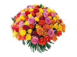 151 роза микс (50 см)
