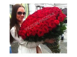 Букет 151 красная роза