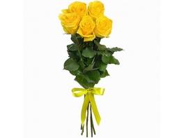 Букет из 5 желтых роз