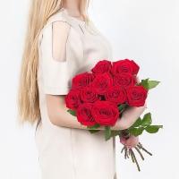 Букет из 11 красных роз (70 см)