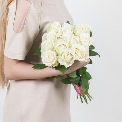Букет из 11 белых роз 70 см