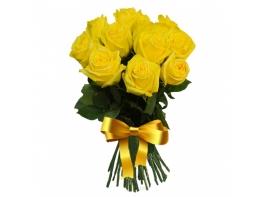 11 желтых роз (60 см)