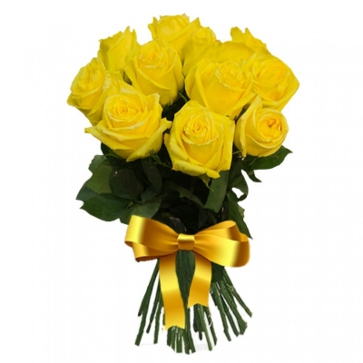 11 желтых роз (50 см)
