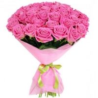 41 розовая роза (60 см)