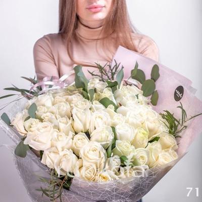 71 белая роза