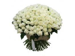 201 белая роза (50 см)