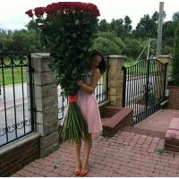 Высокие розы 170 см 101 шт