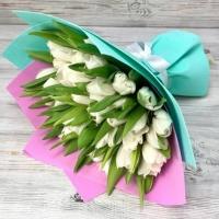 Букет из 51 белого тюльпана №4