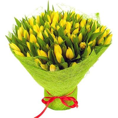 Букет из 101 желтого тюльпана №5