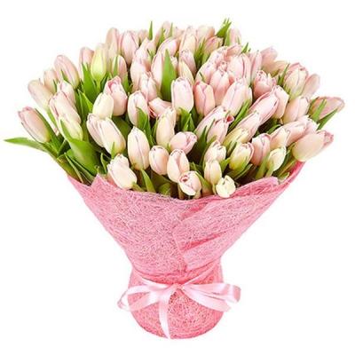 Букет из 101 розового тюльпана №5