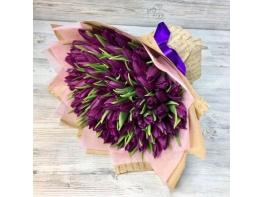 Букет из 101 сиреневого тюльпана №23