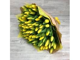 Букет из 101 желтого тюльпана №12
