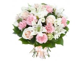 Букет с лилией и розой «Вдохновение»