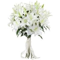 Букет из белых лилий «Чистые чувства»