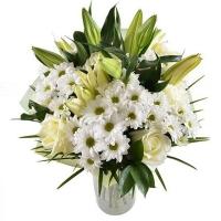 Букет с лилиями «Метель»