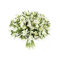 Букет 101 лилия белая