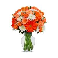 Букет хризантем «Жаркий день»