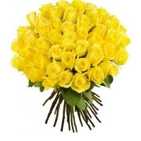 51 желтая роза (40 см)