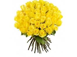 51 желтая роза (50 см)