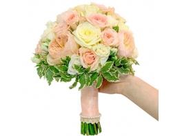 Букет невесты с пионовидными розами №148