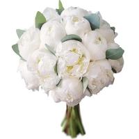 Свадебный букет невесты с белыми пионами №220