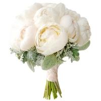 Букет невесты из белых пионов №166