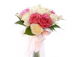Букет невесты с розами и тюльпанами №110