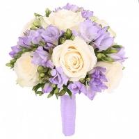 Свадебный букет невесты из фрезии и роз №127