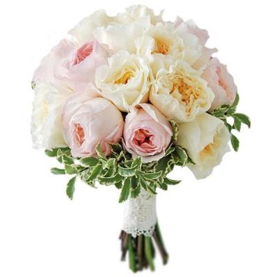 Свадебный букет невесты с пионовидными розами №253