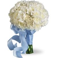 Букет невесты из белых гвоздик №6