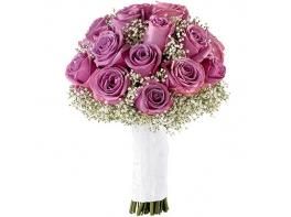 Букет невесты из фиолетовых роз №172