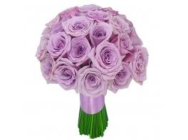 Букет невесты из фиолетовых роз №108