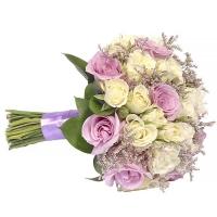 Свадебный букет невесты с розами №265