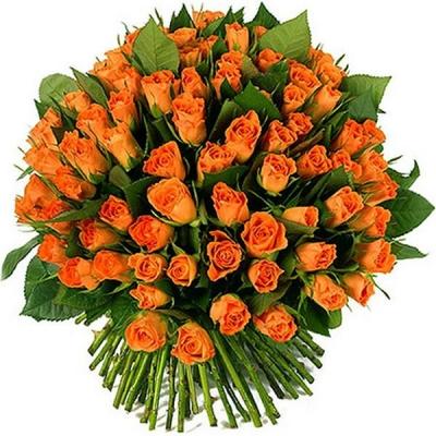 101 оранжевая роза (50 см)