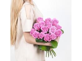 15 розовых роз (70 см)