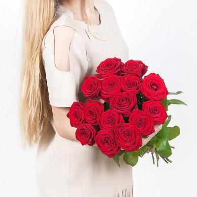 15 красных роз (70 см)