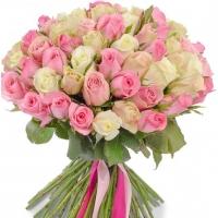 Букет из 101 розы Кения микс (40см)