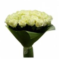 Букет из 25 белых роз (70см)