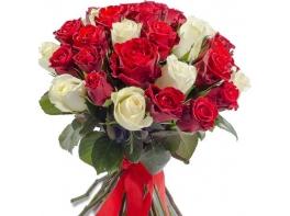 Букет из 41 розы Кения микс (40см)