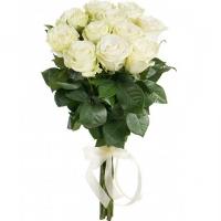 Букет из 9 белых роз Эквадор (70см)
