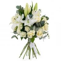 Лилии с розами